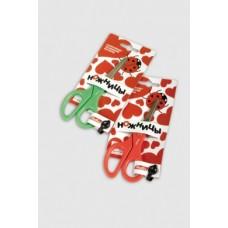 Ножницы Hatber 13.5 см, с линейкой, нерж.ст. Европодвес S7113
