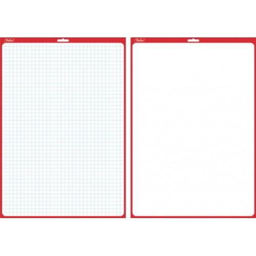 Доска Hatber для рисования и заметок двухсторонняя 340*490 мм с маркером SMn_03010