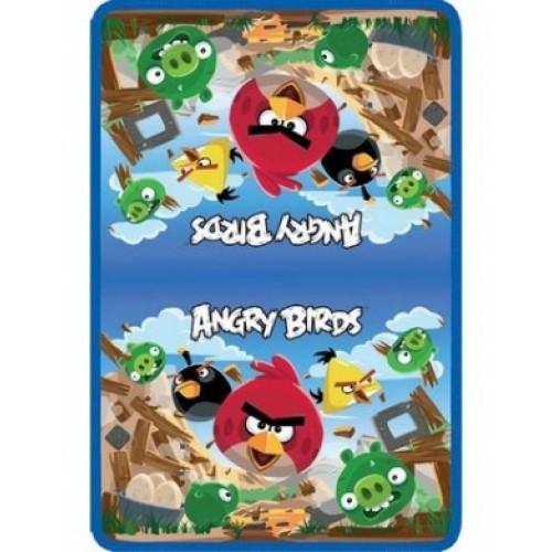 Папка для тетрадей Hatber Angry Birds с откидной планкой А4 на молнии AMt_42651