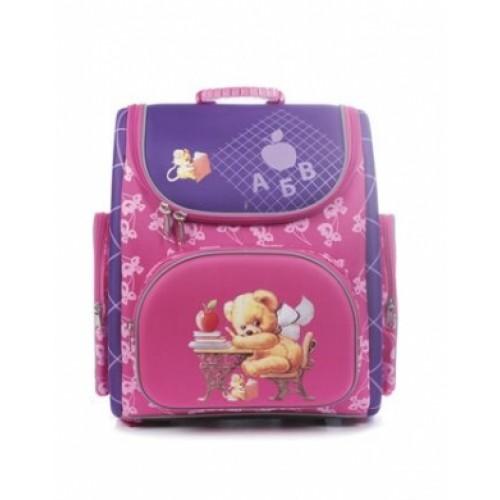 Рюкзак повседневный Hatber 38х28х18см COMPACT жесткая форма раскладной-Мишка-NRk_00401