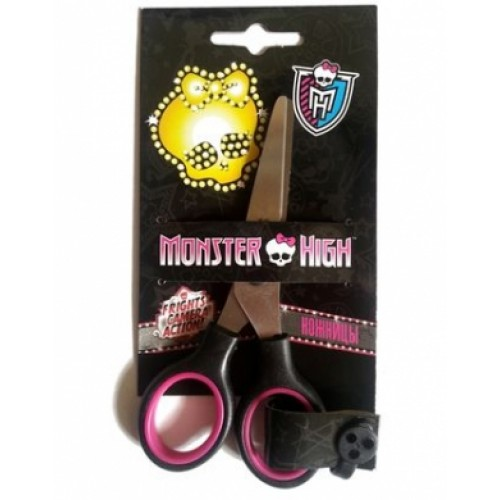 DNn_13542 Ножницы Детские 13см нерж. сталь Hatber-Школа Монстров-(Monster High) в инд.упак.с европо