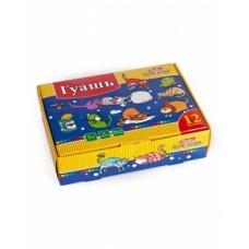 Краски Гуашь 12 цв. 20ml Hatber-Прикольные коты- в картонной коробке KKs_12280