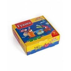 Краски Гуашь 9 цв. 20ml Hatber-Прикольные коты- в картонной коробке KKs_09280