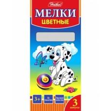 Мелки Hatber 3 цвета-Далматинцы- в картонной коробке KMn_03530