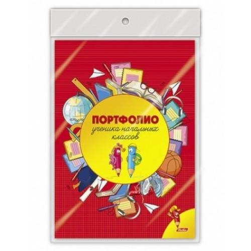 ПОРТФОЛИО ученика начальных классов 16л А4ф-Веселые карандаши- в пакете с европодвесом 16Пу4_12645