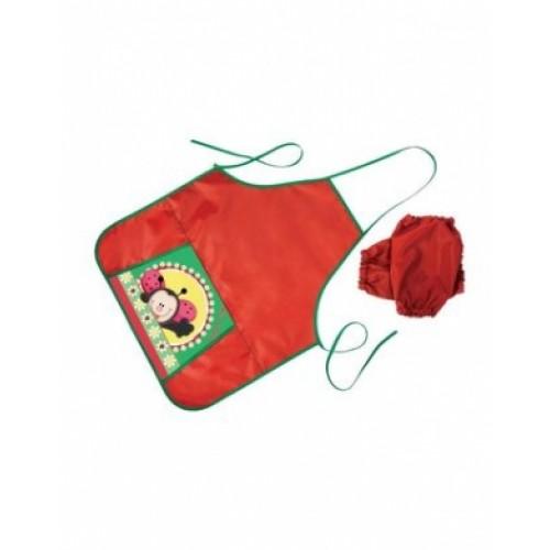 Фартук для Труда Hatber с карманом -Божья коровка-NFn_10657