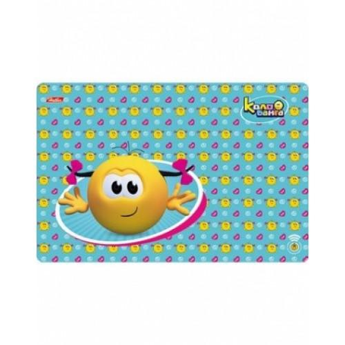 Доска для лепки Hatber А4ф Пластиковая 298*197мм -Веселые смайлики- для девочки (Колобанг 4PT_14950