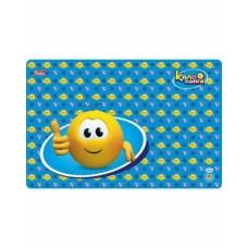 Доска для лепки Hatber А4ф Пластиковая 298*197мм -Веселые смайлики- для мальчика (Колобан) 4PT_14949
