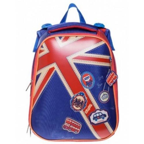 Рюкзак Hatber ERGONOMIC-Британский флаг- 37X29X17 СМ EVA материал светоотраж. 2 отделения NRk_15008