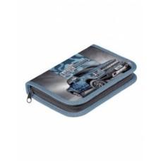 Пенал Hatber 190х130мм 1 отделение на молнии с откидной планкой-Внедорожник-NPn_18061