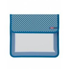 Папка для тетрадей Пластиковая А5ф Hatber 1 отделение на липучке-Шотландка-   в индив.упа AMp_51022