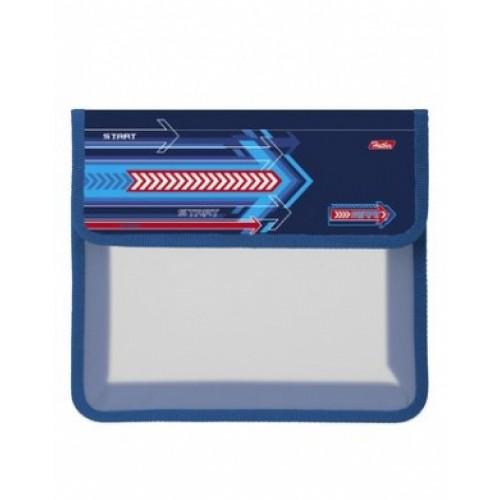 AMp_52029 Папка для тетрадей Пластиковая А5ф Hatber 2 отделения на липучке-Start-  в индив.упак.