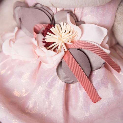 """Игрушка  """"Зайка Ми"""" Большой в розовом платье с цветком SidL-184"""
