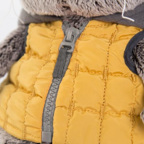 Игрушка  Басик в желтой жилетке с серым капюшоном Ks22-058