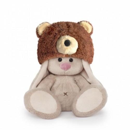 Игрушка  Зайка Ми в шапке медвежонка (малыш) SidX-180