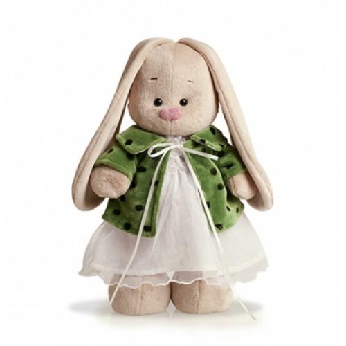 """Игрушка  """"Зайка Ми"""" в зеленом пальто и белом платье (большой) StM-034"""