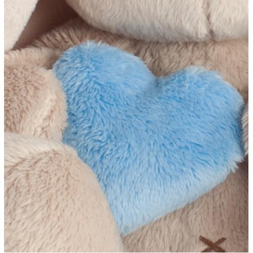 """Игрушка  """"Зайка Ми"""" в голубой шапке с сердечком (малыш) SidXt-074"""