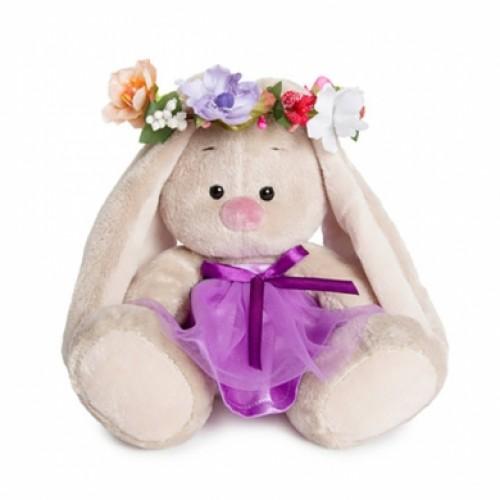 """Игрушка  """"Зайка Ми""""  в веночке и в фиолетовом платье  (малыш) SidXm-133"""