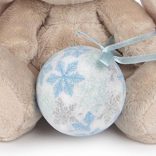 Игрушка  Зайка Ми  с новогодним шариком(малыш) SidX-125