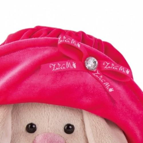 """Игрушка  """"Зайка Ми"""" в бархатной шляпе  с букетиком (большая) SidM-142"""