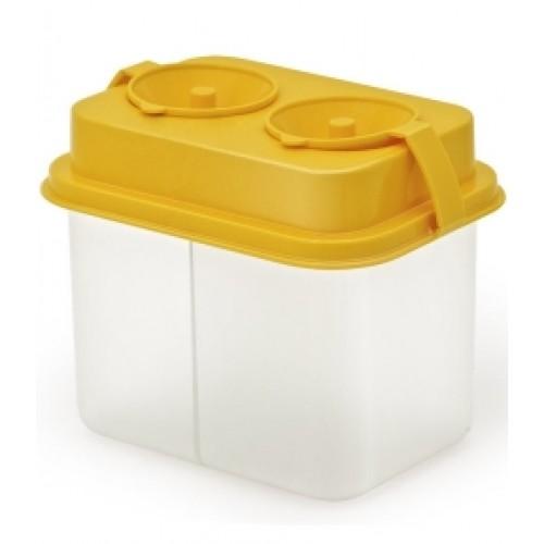 Стакан-непроливайка двойной Премиум желтый СН450