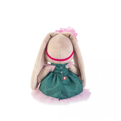 """Игрушка  """"Зайка Ми"""" в зеленом платье и с цветком (большая) SidM-186"""