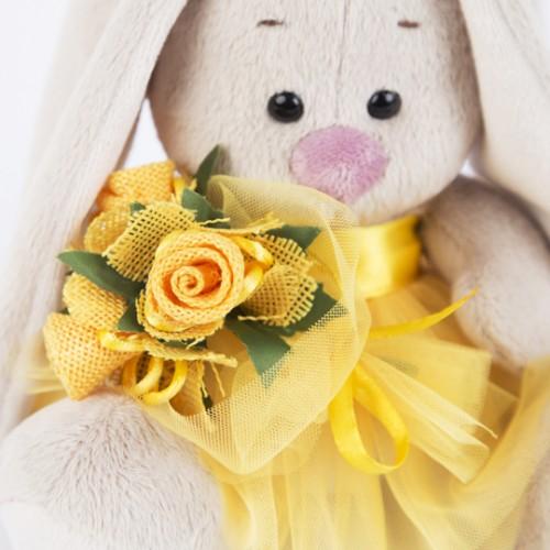 Игрушка  Зайка Ми  в желтой юбочке и с букетом(малыш) SidX - 201