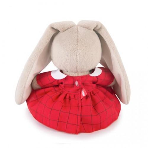 Игрушка  Зайка Ми  в красном платье в клетку (малыш) SidX-191