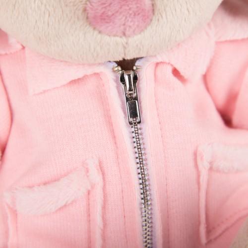 """Игрушка  """"Зайка Ми"""" в розовой меховой курточке (малая) SidS-209"""
