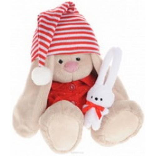 Игрушка мягконабивная Зайка Ми в красной пижаме (малый) SidS-158
