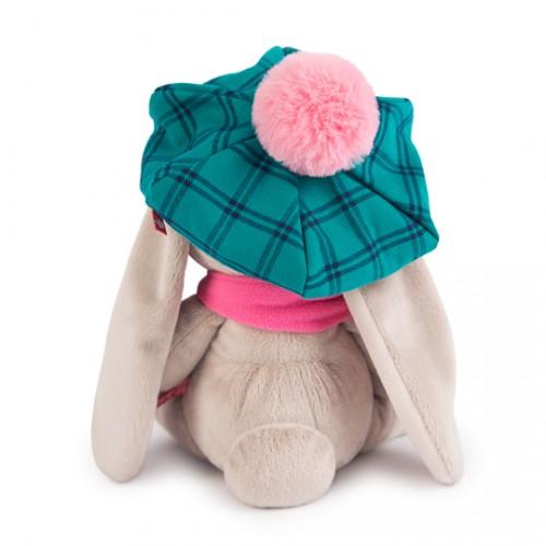 Игрушка  Зайка Ми в зеленой кепке и розовом шарфе (большая) SidM-202