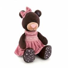 Игрушка  Milk сидячая в розовом бархатном платье 25 М5043/25