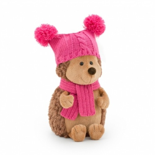 Игрушка  *Life  Ежинка Колючка в шапке с двумя помпонами 15 OS607/15