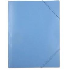 Папка на резинке Бюрократ PRA3Blue A3 пластик 0,7мм синий вмест.250л
