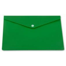 Конверт на кнопке Бюрократ PK804А5NGRN непрозрачный A5 пластик 0,18мм зеленый РФ