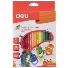 Карандаши цветные 36цв DELI С00230