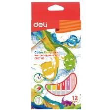 Карандаши цветные акварельные 12 цв. DELI EC00700