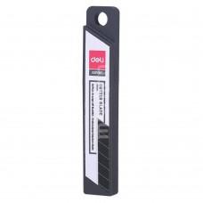 Лезвия для канцелярского ножа 18 мм 10 шт черный экстра DELI E78000