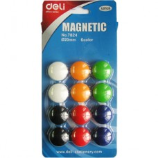 Магниты для доски 12 шт Deli 7824