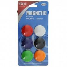 Магниты для доски 6 шт Deli 7825