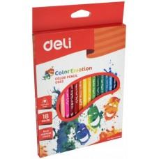 Карандаши цветные 18цв DELI С00210