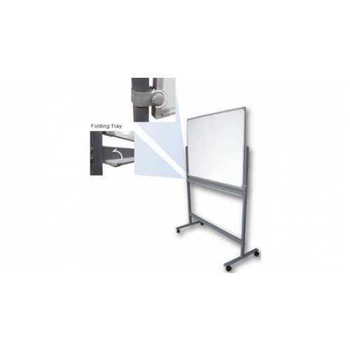Доска магнитно-маркерная, 90x120см, горизонтальная, на подставке с колесиками, вращ.на 360 градусов.