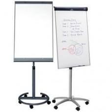 Флипчарт магнитно-маркерный, 70x100 см, пласт. рамка, мобильный на колесиках + подставка