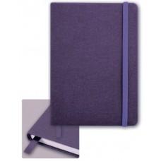 Записная книга на резинке 45732/15 Джинс фиолетовый (обложка кожзам, 145х205 мм)
