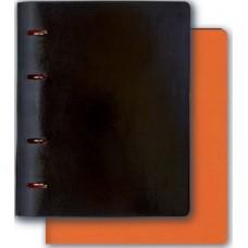 Тетрадь Копибук арт.36088/10 ПРИСТИН ЧЕРН.+ВИНТАЖ ОРАНЖЕВ.(А5, 175х220 мм,80 стр.)