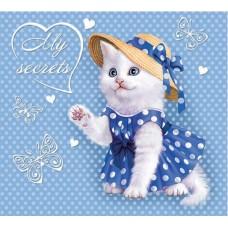 Органайзер трехблочный детский арт.42652 Милый котенок (95*85мм, магнит замок)