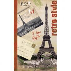Телефонная книжка арт.28811/25 ПАРИЖ (90х150 мм, 48 л.)