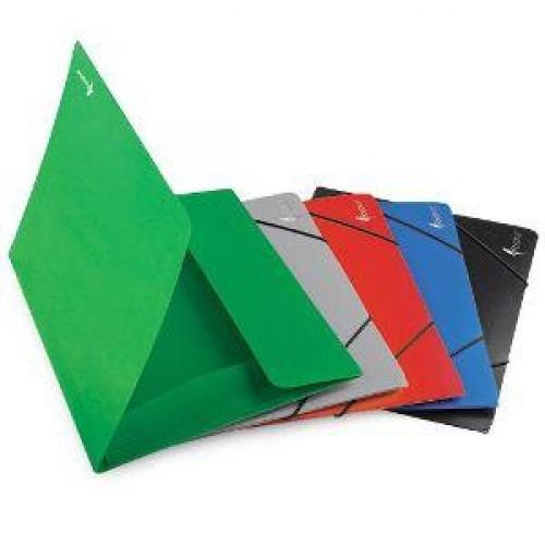 Папка с резинкой А4 зеленая пластик FO21403