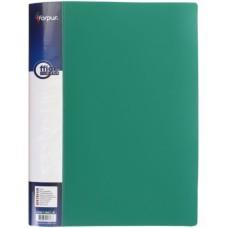 Папка с прижимом А4 зеленая FO21743