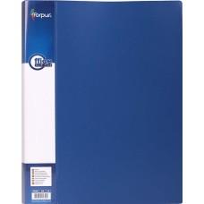 Папка с прижимом А4 синяя FO21742